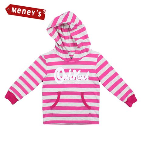 Oshkosh China 6t meney s sweatshirts for pink hoodies autumn hoody for striped brand outdoor