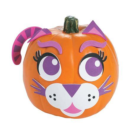 pumpkin decorating kits purple cat pumpkin decorating craft kit trading