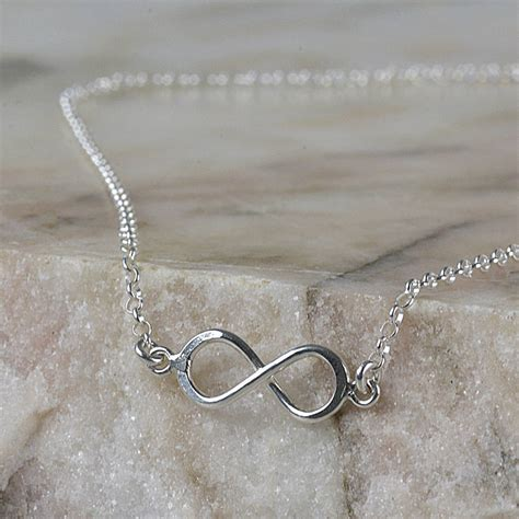 sterling silver infinity necklace by tales from the earth