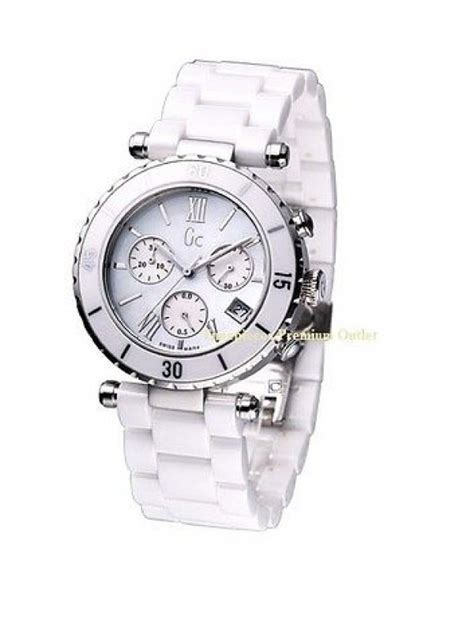 Gc White Ceramics guess collection gc i43001m1 chronograph white ceramic