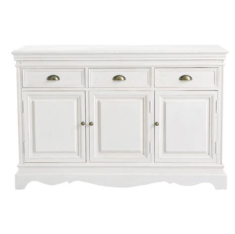 White And Wood Sideboard paulownia wood sideboard in white w 131cm jos 233 phine