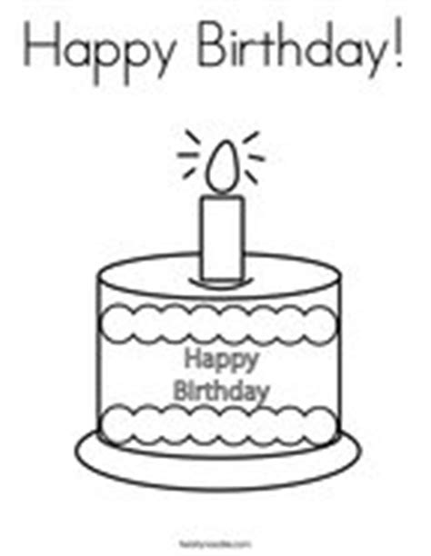4th birthday cake coloring page coloring pages