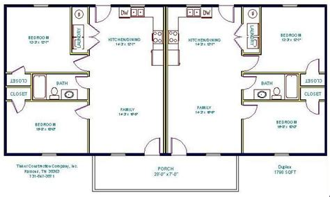 Simple Small House Floor Plans Floorplan Duplex Duplex Simple Duplex House Plans