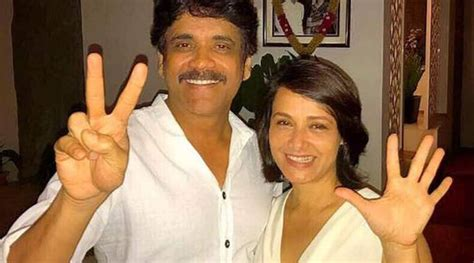 actress amala and nagarjuna wedding photos nagarjuna akkineni celebrates 25 years of togetherness