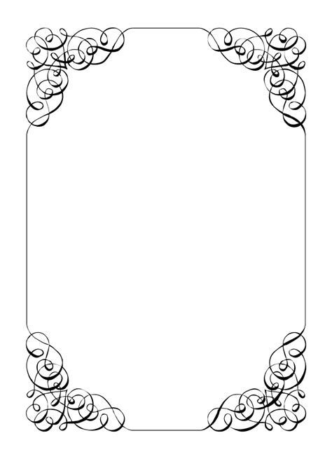 card border template 5 best images of card border printable invitation