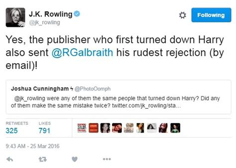 Rejection Letter Jk Rowling Jk Rowling Shares Rejection Letters For Pen Name Robert Galbraith Including One