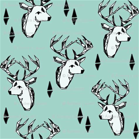 geo deer head // pale turquoise design andrea lauren
