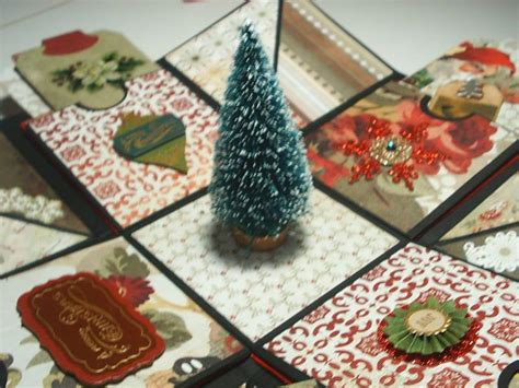 explosion box tutorial christmas christmas explosion box album by primitiveseasons at