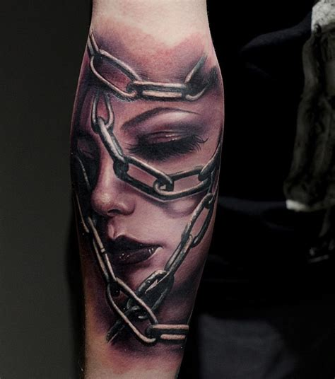 face in chains best tattoo design ideas