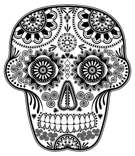 free folk art coloring pages skull designs
