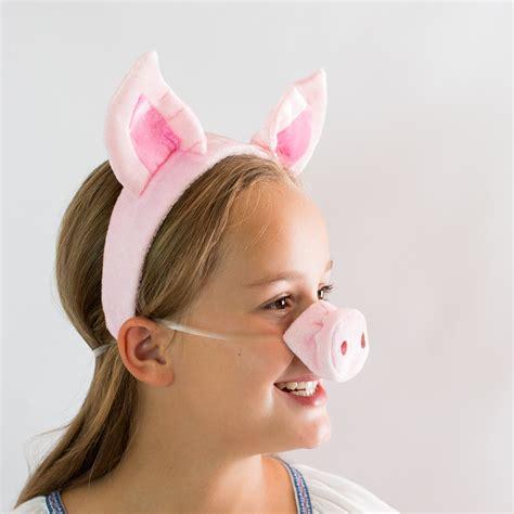 como aser naris y orejas de chancho de goma eba disfraz de halloween orejas de cerdo nariz cola set