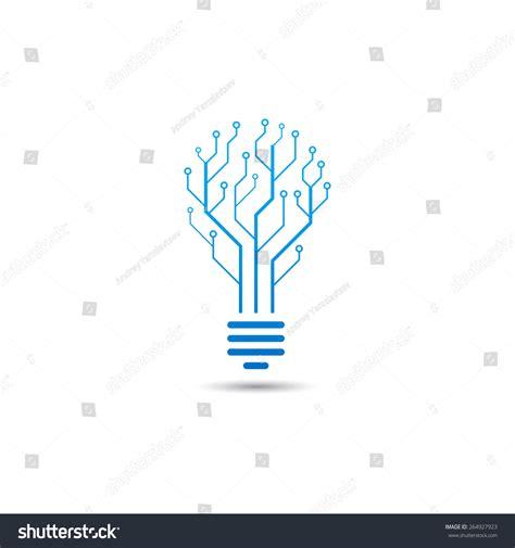Logo Information Technology Concept Logo Form Stock Vector