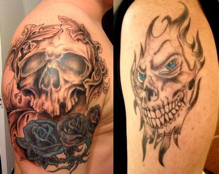 skull shoulder tattoo designs arm skull