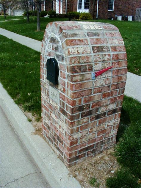 brick mailboxes brick mailboxes designs brick phone picture
