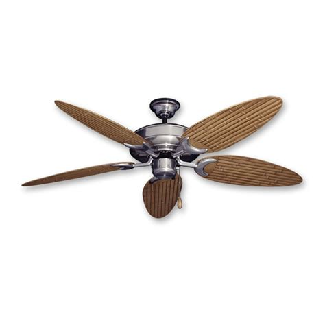 Bamboo Ceiling Fans by Bamboo Ceiling Fan Raindance Brushed Nickel Customize