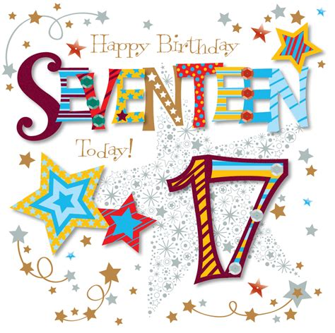 seventeen today 17th birthday greeting card cards
