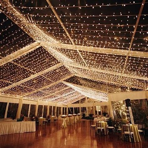 String Lights On Ceiling Wedding Decorations Do It Yourself Wooden Centrepieces Twigs More