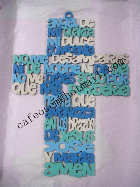 ideas para decorar cruces de madera para baurizo oraci 243 n del 193 ngel de la guarda cruz de madera decorada a
