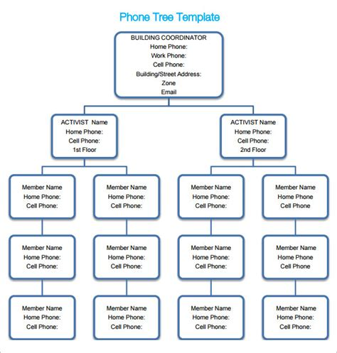Phone Tree 6 Free Pdf Doc Download Printable Phone Tree Template