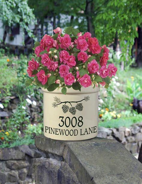 Personalized Crock Planter by Personalized 2 Gallon Stoneware Address Crock