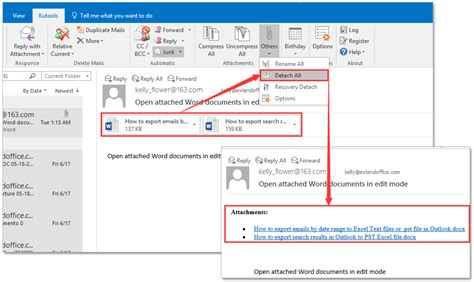 Outlook Search For Emails With Attachments How To Insert Replace Attachments As Hyperlinks In Outlook