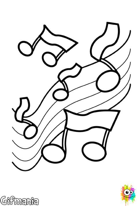 imagenes notas musicales para colorear dibujo de notas musicales para colorear