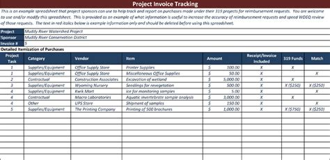 invoice tracking template  track  sales  receivables