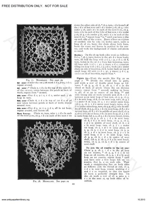 antique pattern library priscilla apl 6 ja034 priscilla irish crochet book page 25