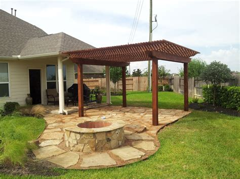 Flagstone Patio With Pergola by Cedar Or Wood Of Your Choice Vinyl Pergolas With
