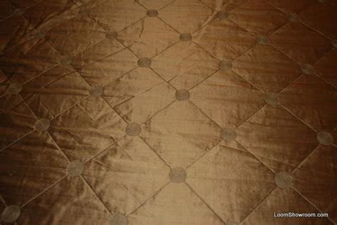 Upholstery Silk by K125 Kravet Taupe Quilted Harlequin Silk Fabric