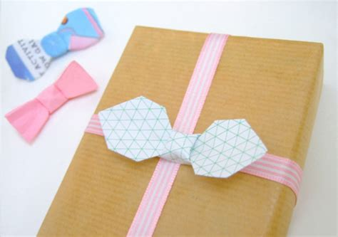 Origami Bow Tie - diy paper folding origami bow tie tutorial packaging