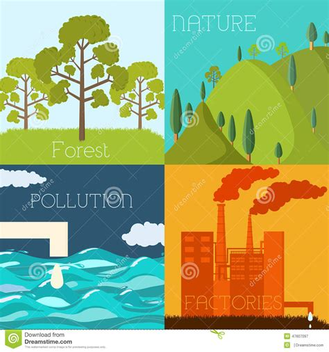 design green environment flat design of ecology environment green clean stock