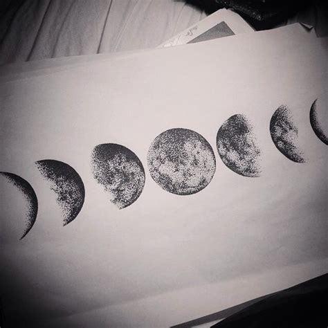 Phases Of The Moon Inks Pinterest Moon Tattoo And Tattoos Of The Moon And