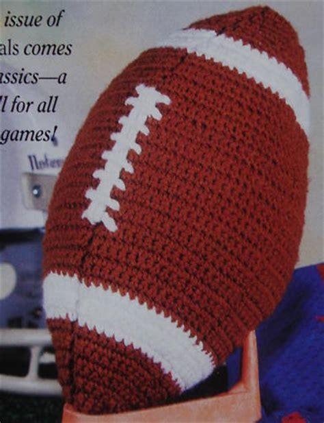 Crochet Football Pillow Pattern crocheted pattern sport crochet patterns