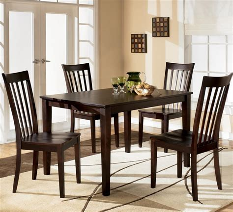 ashley furniture hyland  piece dining set  rectangular table   chairs  city