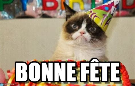 grumpy cat birthday card template bonne f 234 te grumpy cat birthday meme on memegen