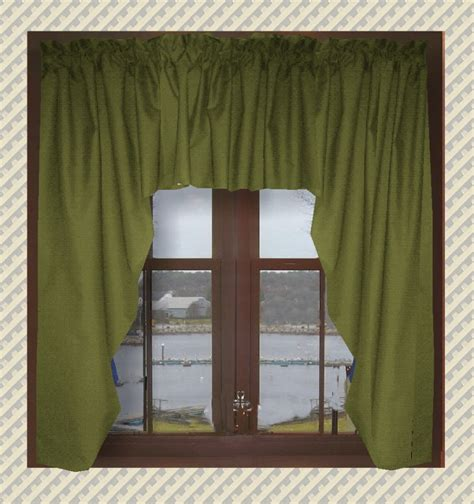 green swag curtains solid olive green swag window valance