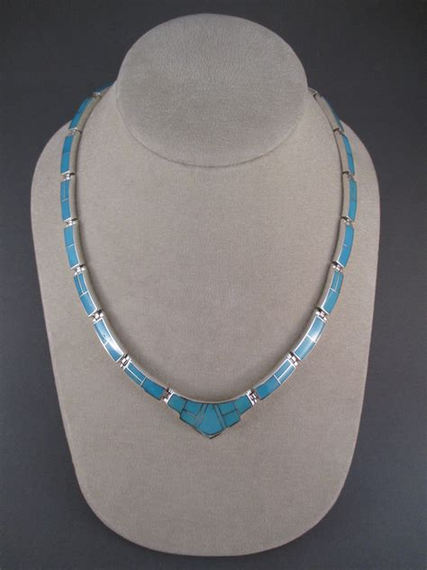 how to make inlay jewelry turquoise inlay necklace navajo jewelry two grey