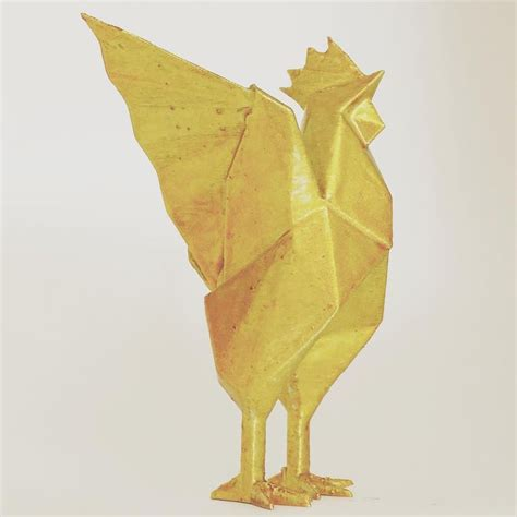 Origami Rooster - 3dprinter 3dprinting 3dmodel bird rooster origami