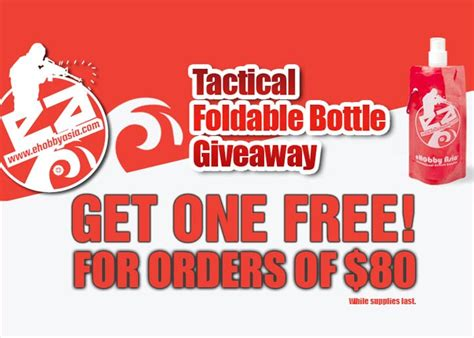 Tactical Giveaway - ehobby tactical foldable bottle giveaway popular airsoft