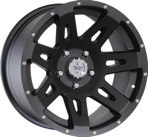 rugged ridge wheels jk rugged ridge 15301 01 rugged ridge 17x9 wheel in satin black powder coat for 07 16 jeep
