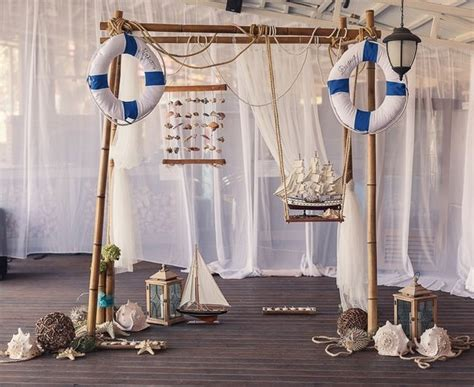 Wedding Arch Anchors by Nautical Decor For The Wedding Reception Decorated Arch