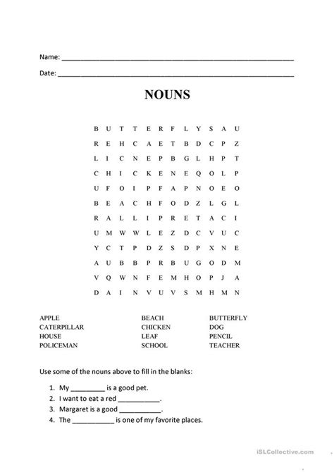 printable noun word search nouns word search puzzle worksheet free esl printable