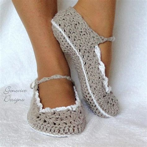 crochet house shoes crocheted pattern slipper 187 crochet projects