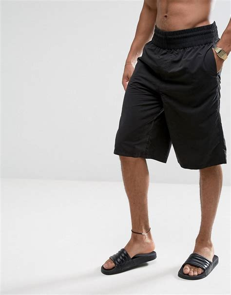 Wide Leg Shorts lyst asos swims shorts with wide leg in length in