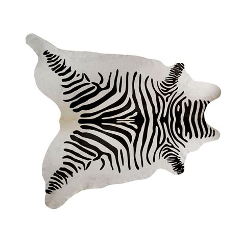 Cowhide Zebra Rug by Southwest Rugs Zebra Stenciled Black On White Cowhide Rug