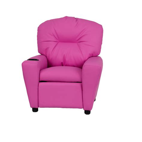 Pink Recliners by Pink Vinyl Recliner With Cup Holder