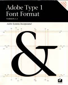 what is the best font for a cover letter book cover of adobe type 1 font format