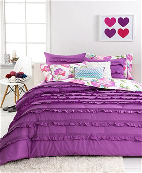 seventeen bedding sets closeout seventeen bedding eva eyelet purple 3 piece