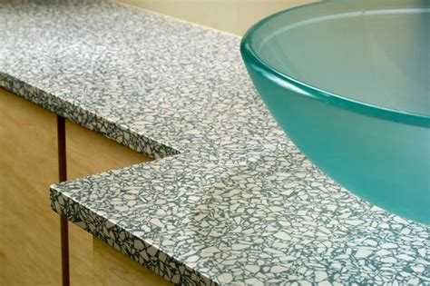 recycled glass vanity tops and side